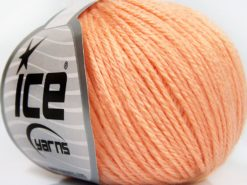 Lot of 8 Skeins Ice Yarns BABY MERINO SOFT DK (40% Merino Wool) Yarn Light Salmon