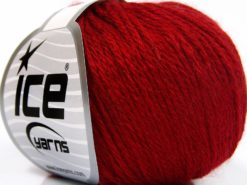 Lot of 8 Skeins Ice Yarns BABY MERINO SOFT DK (40% Merino Wool) Yarn Dark Red