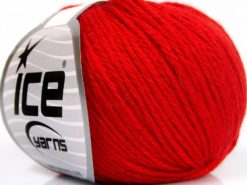 Lot of 8 Skeins Ice Yarns BABY MERINO SOFT DK (40% Merino Wool) Yarn Red