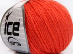 Lot of 8 Skeins Ice Yarns BABY MERINO SOFT DK (40% Merino Wool) Yarn Orange