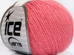 Lot of 8 Skeins Ice Yarns BABY MERINO SOFT DK (40% Merino Wool) Yarn Baby Pink