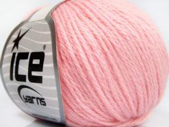 Lot of 8 Skeins Ice Yarns BABY MERINO SOFT DK (40% Merino Wool) Yarn Light Pink