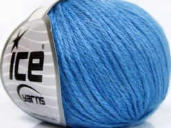 Lot of 8 Skeins Ice Yarns BABY MERINO SOFT DK (40% Merino Wool) Yarn Light Blue