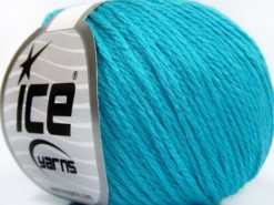 Lot of 8 Skeins Ice Yarns BABY MERINO SOFT DK (40% Merino Wool) Yarn Turquoise