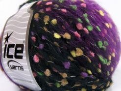 Lot of 6 Skeins Ice Yarns ALPACA PUNTO (20% Alpaca 20% Superwash Extrafine Merino Wool) Yarn Lilac Black