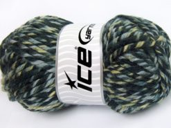 Lot of 2 x 200gr Skeins Ice Yarns SUPERWASH WOOL JUMBO (25% Superwash Wool) Yarn Khaki Shades Grey Shades