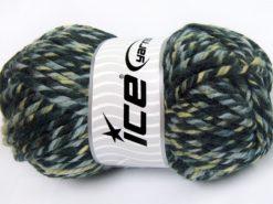 Lot of 2 x 200gr Skeins Ice Yarns SUPERWASH WOOL JUMBO (25% Superwash Wool) Yarn Khaki Shades Grey Shades