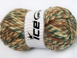 Lot of 2 x 200gr Skeins Ice Yarns SUPERWASH WOOL JUMBO (25% Superwash Wool) Yarn Green shades Brown Shades