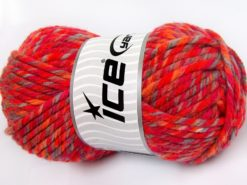 Lot of 2 x 200gr Skeins Ice Yarns SUPERWASH WOOL JUMBO (25% Superwash Wool) Yarn Orange Shades Red Light Camel