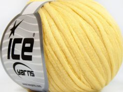 Lot of 8 Skeins Ice Yarns TUBE COTTON WORSTED (67% Cotton) Yarn Light Yellow