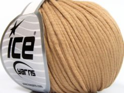 Lot of 8 Skeins Ice Yarns TUBE COTTON WORSTED (67% Cotton) Yarn Milky Brown