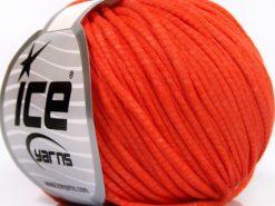 Lot of 8 Skeins Ice Yarns TUBE COTTON WORSTED (67% Cotton) Yarn Dark Orange