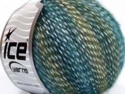 Lot of 8 Skeins Ice Yarns MIRELLA (15% Mohair) Yarn Green Shades Turquoise