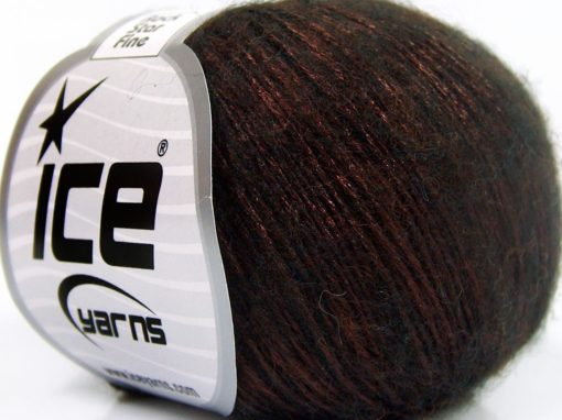 Lot of 8 Skeins Ice Yarns ROCK STAR FINE (19% Merino Wool) Yarn Copper