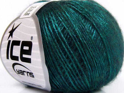 Lot of 8 Skeins Ice Yarns ROCK STAR FINE (19% Merino Wool) Yarn Emerald Green