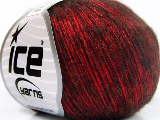 Lot of 8 Skeins Ice Yarns ROCK STAR FINE (19% Merino Wool) Yarn Red