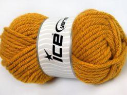 Lot of 4 x 100gr Skeins Ice Yarns ATLAS SUPERBULKY Hand Knitting Yarn Gold