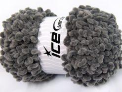 Lot of 4 x 100gr Skeins Ice Yarns CHENILLE LOOP (100% MicroFiber) Yarn Grey