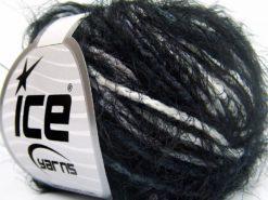 Lot of 8 Skeins Ice Yarns CLARA Hand Knitting Yarn Black Grey White