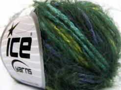 Lot of 8 Skeins Ice Yarns CLARA Hand Knitting Yarn Green Shades Lilac