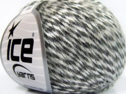 Lot of 8 Skeins Ice Yarns ROCK STAR (19% Merino Wool) Yarn Black White