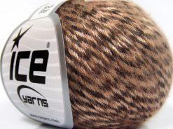 Lot of 8 Skeins Ice Yarns ROCK STAR (19% Merino Wool) Yarn Light Salmon Brown