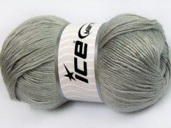 Lot of 4 x 100gr Skeins Ice Yarns RAINBOW SOLID Hand Knitting Yarn Light Grey