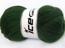 Lot of 4 x 100gr Skeins Ice Yarns RAINBOW SOLID Hand Knitting Yarn Dark Green