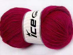 Lot of 4 x 100gr Skeins Ice Yarns RAINBOW SOLID Hand Knitting Yarn Fuchsia