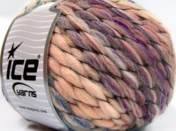 Lot of 2 x 150gr Skeins Ice Yarns ALPACA COLOR JUMBO (15% Alpaca 15% Wool) Yarn Pink Shades Beige Purple Blue