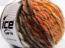 Lot of 2 x 150gr Skeins Ice Yarns ALPACA COLOR JUMBO (15% Alpaca 15% Wool) Yarn Brown Orange Gold Beige
