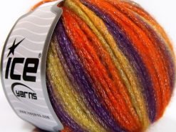 Lot of 8 Skeins Ice Yarns PARIS (30% Wool) Yarn Orange Purple Olive Green Burgundy