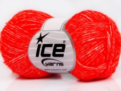 Lot of 8 Skeins Ice Yarns DENIM (80% Cotton) Hand Knitting Yarn Neon Orange