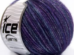 Lot of 8 Skeins Ice Yarns PARIS (30% Wool) Hand Knitting Yarn Purple Shades