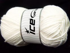 Lot of 4 x 100gr Skeins Ice Yarns MERINO CHUNKY (50% Merino Wool) Yarn White