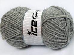 Lot of 4 x 100gr Skeins Ice Yarns MERINO CHUNKY (50% Merino Wool) Yarn Grey