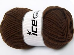Lot of 4 x 100gr Skeins Ice Yarns MERINO CHUNKY (50% Merino Wool) Yarn Dark Brown