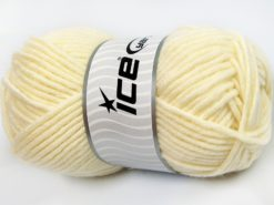 Lot of 4 x 100gr Skeins Ice Yarns MERINO CHUNKY (50% Merino Wool) Yarn Cream
