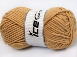 Lot of 4 x 100gr Skeins Ice Yarns MERINO CHUNKY (50% Merino Wool) Yarn Light Brown