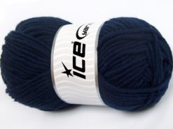 Lot of 4 x 100gr Skeins Ice Yarns MERINO CHUNKY (50% Merino Wool) Yarn Navy