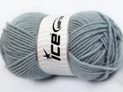 Lot of 4 x 100gr Skeins Ice Yarns MERINO CHUNKY (50% Merino Wool) Yarn Light Indigo Blue