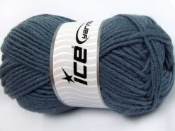 Lot of 4 x 100gr Skeins Ice Yarns MERINO CHUNKY (50% Merino Wool) Yarn Dark Smoke Blue