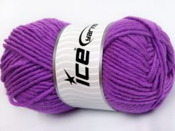 Lot of 4 x 100gr Skeins Ice Yarns MERINO CHUNKY (50% Merino Wool) Yarn Lavender
