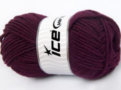 Lot of 4 x 100gr Skeins Ice Yarns MERINO CHUNKY (50% Merino Wool) Yarn Maroon