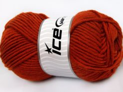 Lot of 4 x 100gr Skeins Ice Yarns MERINO CHUNKY (50% Merino Wool) Yarn Copper
