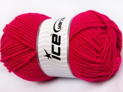 Lot of 4 x 100gr Skeins Ice Yarns MERINO CHUNKY (50% Merino Wool) Yarn Fuchsia