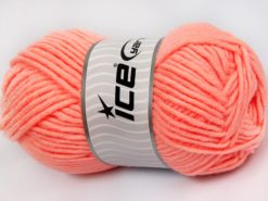Lot of 4 x 100gr Skeins Ice Yarns MERINO CHUNKY (50% Merino Wool) Yarn Light Salmon