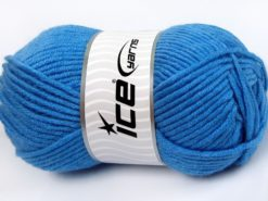 Lot of 4 x 100gr Skeins Ice Yarns MERINO CHUNKY (50% Merino Wool) Yarn Blue