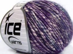 Lot of 8 Skeins Ice Yarns COTTON PASTEL (77% Cotton) Yarn Purple Turquoise