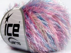 Lot of 8 Skeins Ice Yarns EYELASH COLORFUL Yarn Pink Turquoise Gold